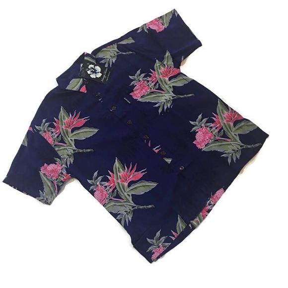 Mango Moon Other - Mango Moon Hawaiian Floral Shirt Sz S